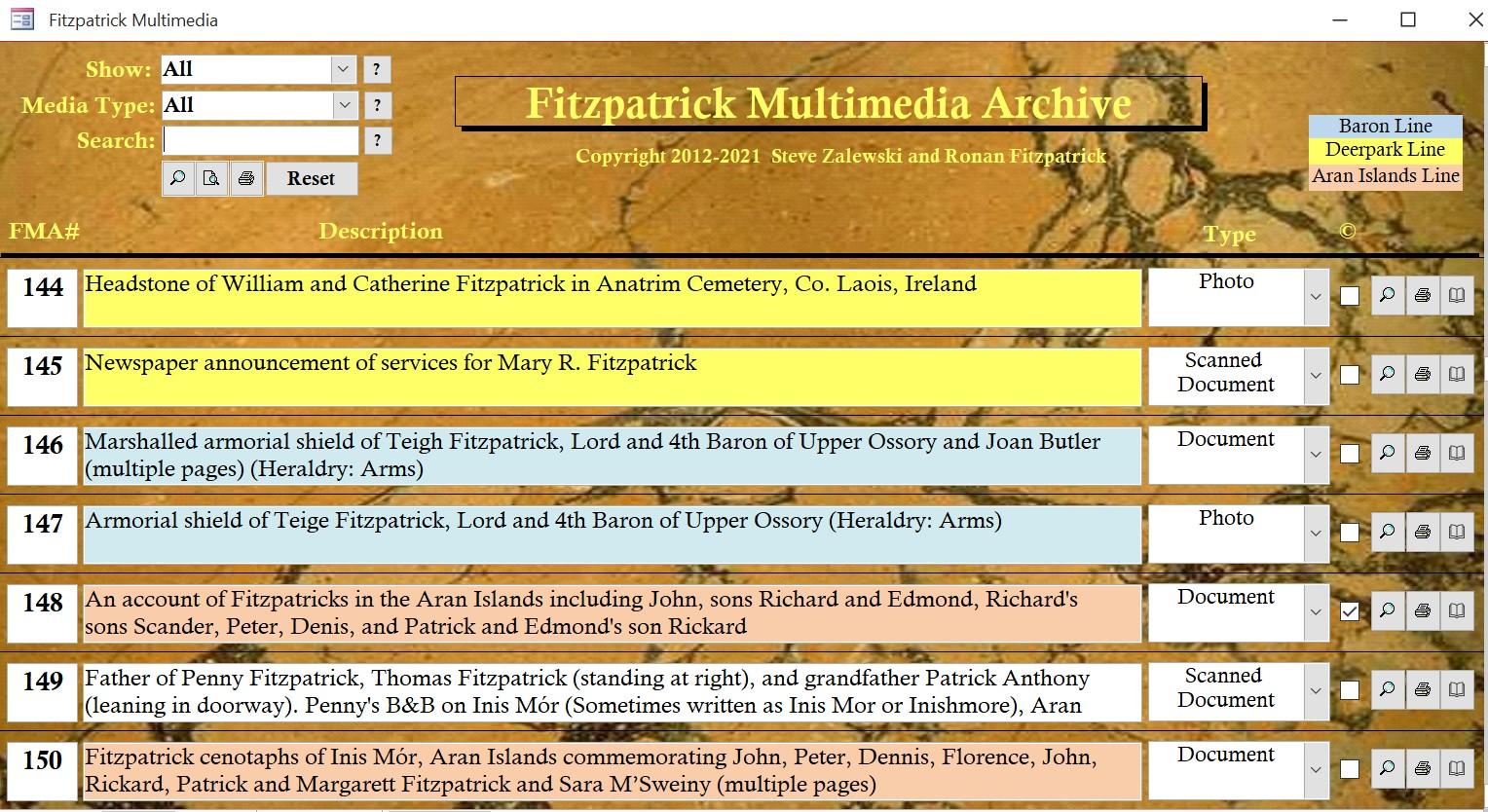 Fitzpatrick Multimedia Archive