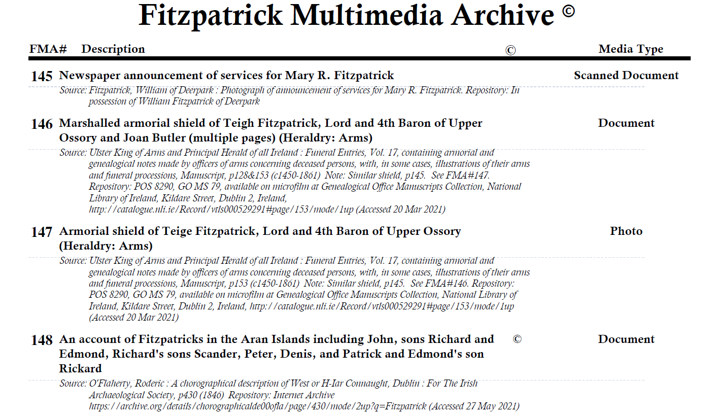 Click to open FMA - Full Catalogue